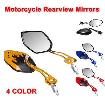 2PCS/Set 360 Degree Rotation Motorcycle Motorbike Scooter Universal Motorcycle Rearview Mirrors Motorbike Side Mirrors 8 / 10mm