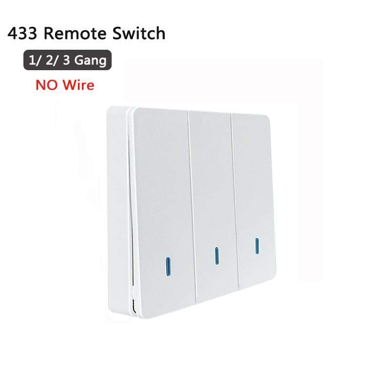 433mhz interruptor de controle remoto sem fio para sonoff t1 reino unido da ue sonoff 4ch pro r2 slampher 433.92mhz rf interruptor de luz de controle remoto