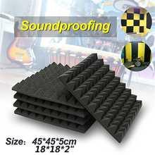 6 szt. Dźwiękochłonne piankowe Studio panele akustyczne Studio piankowe kliny 45x45x5cm dźwiękochłonne Panel absorpcyjny