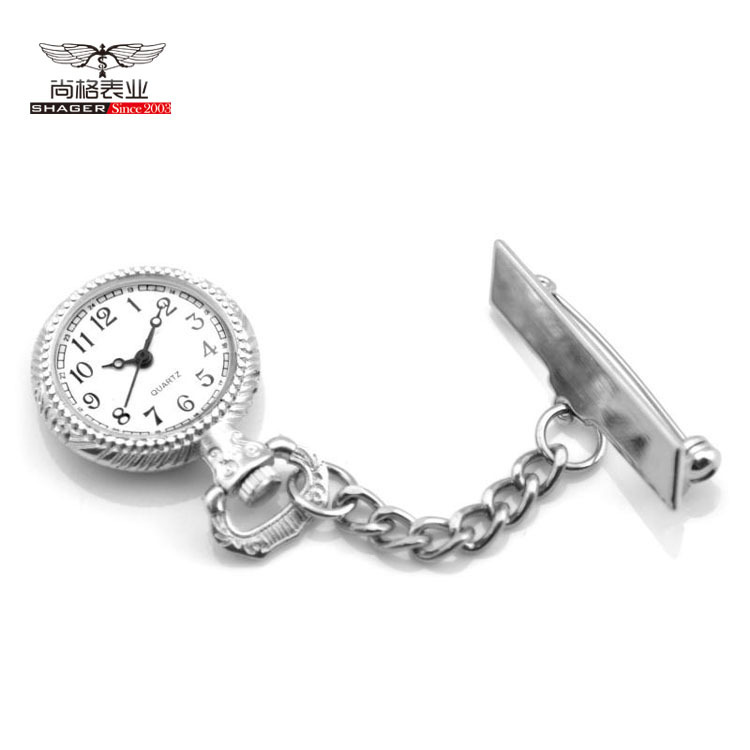 New Silver Medical Doctor Nurse Quartz Pocket Watches Clip On Pendant Chain Pocket Watches For Mans Womens