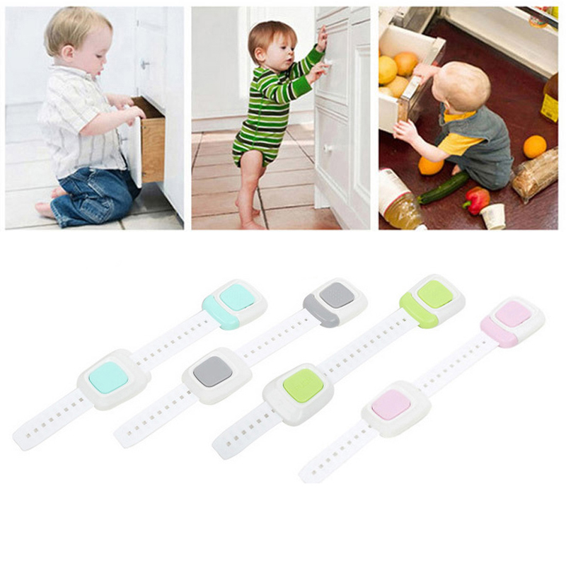 Multiuse Protect Baby Safety Closet Cabinet Drawer Lock Drawer Safety Lock Home Furniture Bathroom Essential Accessory Gadget