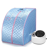 Portable Steam Sauna Home Sauna Generator Slimming Household Sauna Box Ease Insomnia Stainless Steel Pipe Support STEAMER
