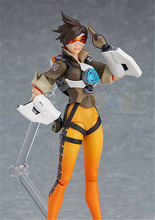 Game Figma 352 Tracer Action Figure Model PVC Figure Toys Collection Anime Figure Figurine Toys Doll In Box 14cm