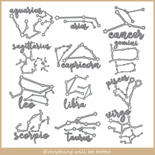12 Constellation Leo Virgo Libra And So On Metal Cutting Dies Die Cut DIY Decorate Cards Scrapbook Craft Embossing Paper Stencil