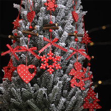 1pcs Merry Christmas Ornaments Pendant Tree Decorations for Home Wooden Xmas Gift Kids