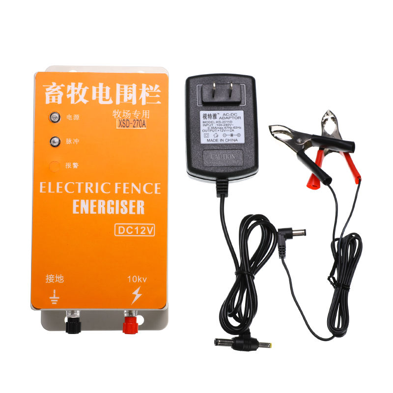 Electric Fence Energizer energi Solar Charger High Voltage Pulse Controller Animal Poultry Farm Fencing Shepherd