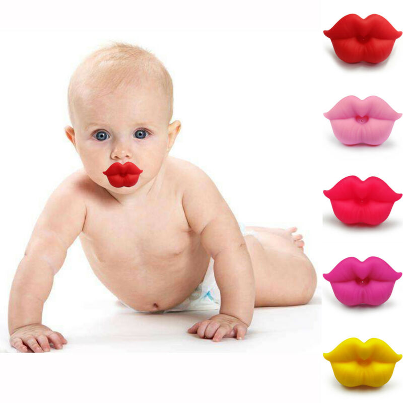 New Funny Pacifier Teether Orthodontic Safe Soother Dummy Lip Baby Silicone Nipple