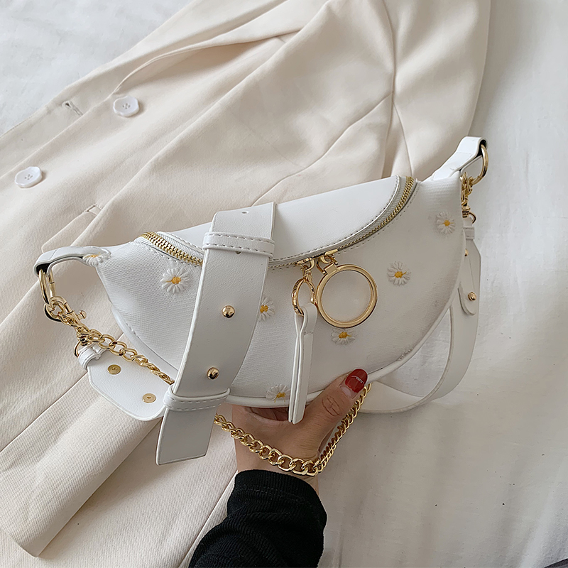 Small PU Leather Crossbody Bags For Women 2020 Summer Sweet Elegant Shoulder Handbags Female Travel Chain Cross Body Bags