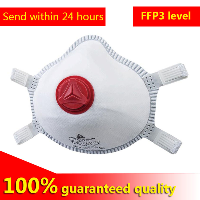 5 PCS FFP3 Mask Non Woven Synthetic Fibre Facial Filtering Part Adjustable Straps Moulded Nose Clip Exhaltation Valvemasks  2020