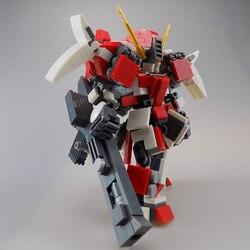 441 pçs design original mecha guerreiro blocos de construção brinquedos para crianças robôs armadura anime figura modelo 14cm ação soldado bonecas