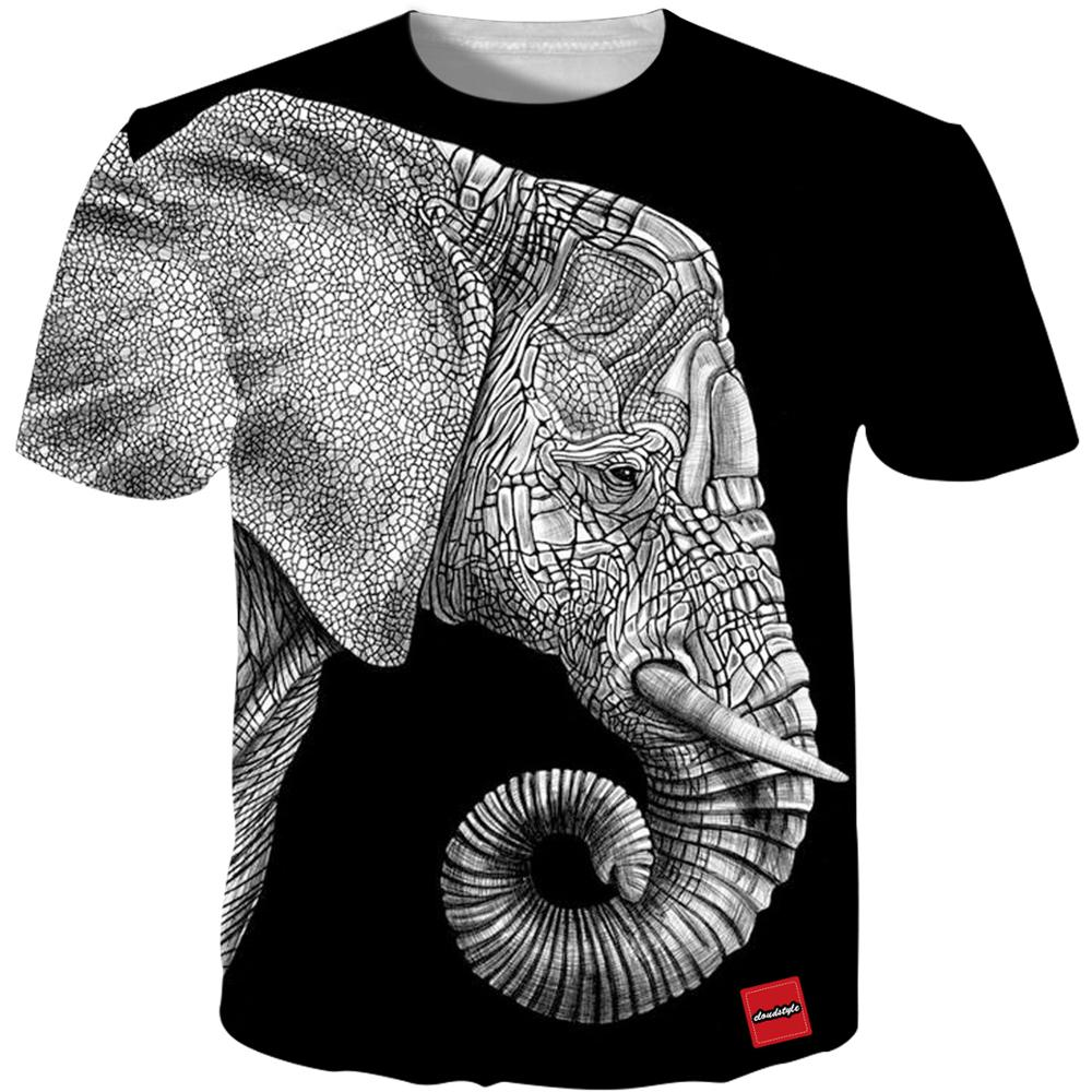 YFFUSHI 2019 New Male 3d Tshirts Print <font><b>T</b></font> Cartoon Elephant <font><b>Shirts</b></font> Men Summer <font><b>Dragon</b></font> <font><b>Ball</b></font> Tops Men Tees Casual Streetwear <font><b>5XL</b></font> image