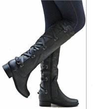 Women's High Boots 2019 Spring Autumn PU Leather Fashion Tassel Ladies Thigh High Boot Women Boots Long Boot Woman Shoes