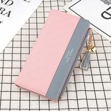 Women Wallet Leather Clutch Long Money Bag Card Holder Zipper Coin Purse Female Girl Fashion Luxury Brand Wallets Designer Purse