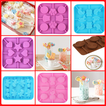 Silicone Candy Lollipop Mold chocolate sugar mould for lollipops cake decoration form round biscuit  DIY Baking Cake Decorating creative diy silicone mold cake baking chocolate mould cake mold diy plastic candy sugar paste mold cake decorating baking tool