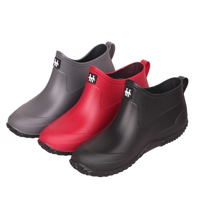 Rain Boots Women's Short Summer Men Low