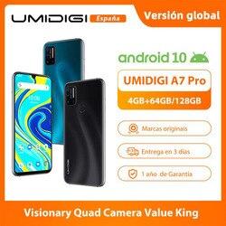 UMIDIGI A7 Pro Quad Camera Andriod 10 OS 6,3 дюймFHD + полный экран 64 Гб/128 ГБ ROM LPDDR4X Восьмиядерный процессор глобальная Версия Телефона