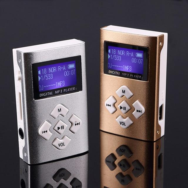 MP3 Music Player Mini Usb Clip Portable Lcd-scherm Ondersteuning 32Gb Micro Sd Tf Card Slot Digitale Mp3 Muziekspeler 1