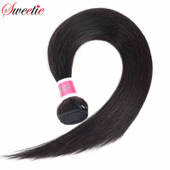 Sweetie Hair Brazilian Straight Hair Bundles 100% Human Hair Weave Bundles Natural Black Color Can Buy 3/4 Pcs Non Remy Hair