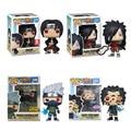 Оригинальные виниловые куклы Funko Pop Наруто Саске Какаси Шаринган Итачи Мадара Фигурки игрушки для мальчиков рождественские подарки