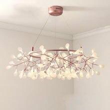 Lustre artpad nórdico de pendurar em sala, luminária moderna de cozinha, estilo fogos de artifício, ouro rosa, preto, luminária redonda