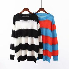 2019 autumn sweater women two-color mohair sweater striped women sweater long sweater sweater funk since 1776 sweater