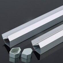 1-20pcs 45 degress Aluminum led profile channel for housing light