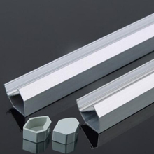 1-20pcs led profile aluminum 45 degree corner led profile channel aluminum profile for led strip bar channel цены