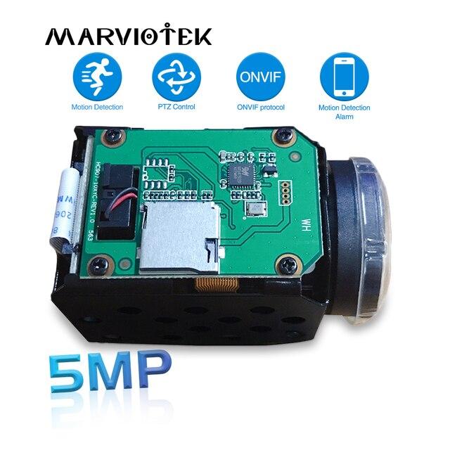 H.265 5MP ip camera module 10X Zoom cctv ip cameras ptz Onvif Low illumination video surveillance block camera module for uav
