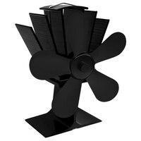 Lâminas 5 Calor Alimentado Fogão Casa Ventilador Silencioso Ventilador Ultra Silencioso Fã Fogão A Lenha Fogão Lareira De Calor Alimentado Fã|Vent.| |  -