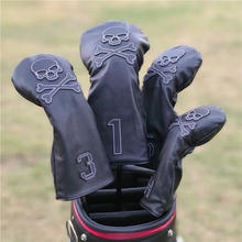 SKULL Golf Woods Headcovers Golf Covers For Driver Fairway Woods 135H Clubs Set Heads PU Leather Unisex