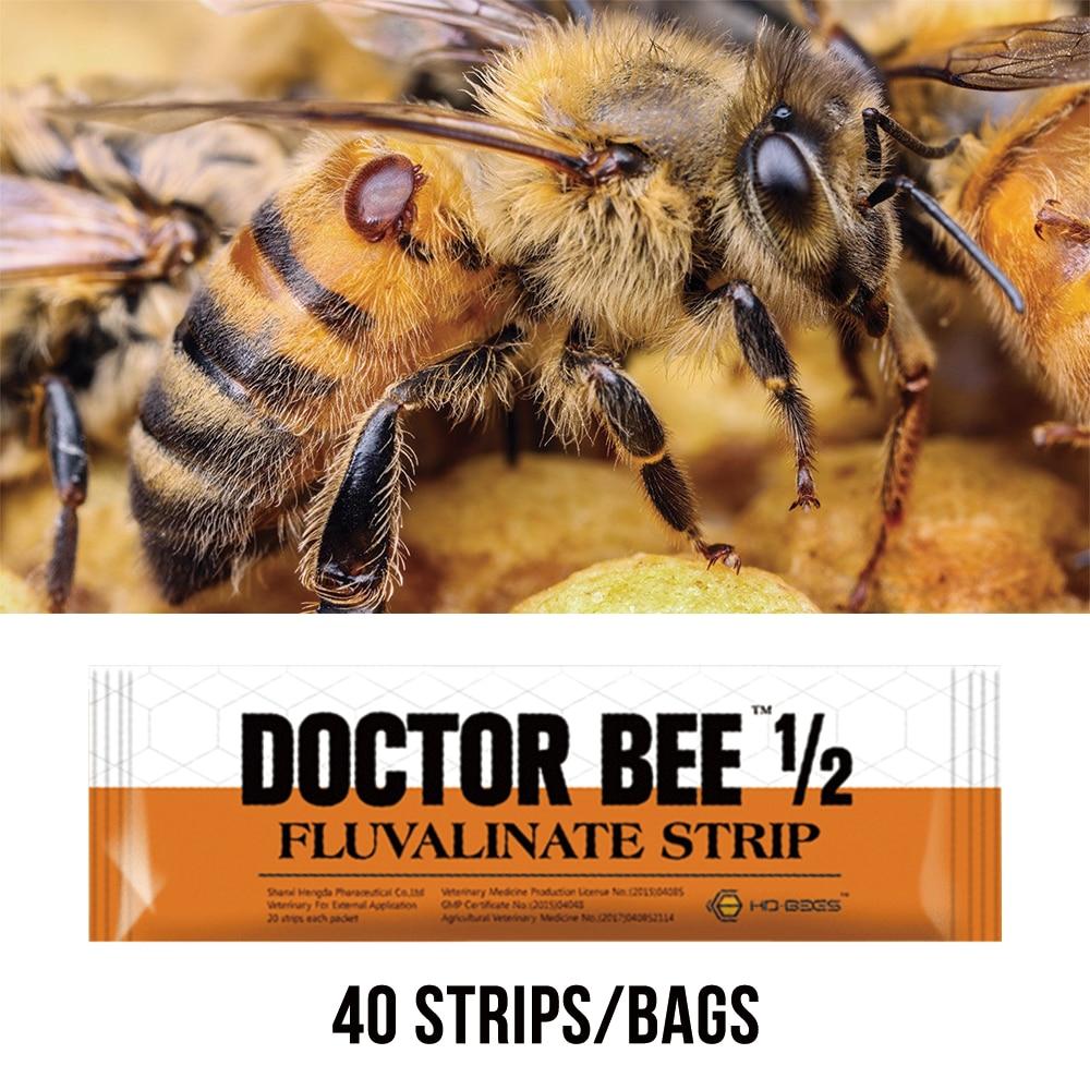 Медицина для пчел 40 полосок флювалиновая полоса высокоактивная пчела Varroa Mite убийца для пчеловодства принадлежности для инструментов