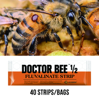 Medicine For Bees 40 Strips Fluvalinate Strip Highly Active Bee Varroa Mite Killer Beekeeping Traps For Beekeeper Suppiler