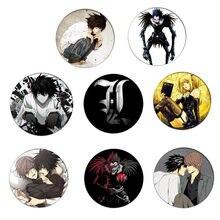 58mm anime death note cosplay emblema broche acessórios para roupas mochila decoração presente