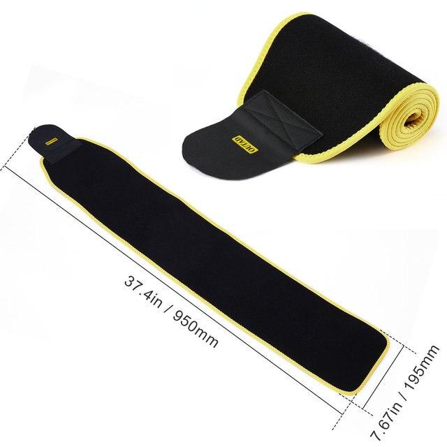 Women Waist Trimmer Belt Neoprene Waist Sweat Band for Slimmer Water Weight Loss Mobile Sauna Belts Strengthen Tummy 5