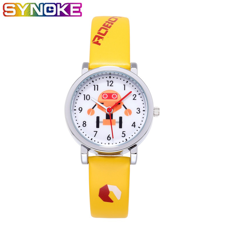 SYNOKE Kids Quartz Watches Sports Cute Robot Boys Girls Gifts Children Watch Colorful Fashion Wrist Watch For Students