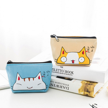 Cat Coin Purses Kids Children Coin Purse Animal Card Holder Wallet Card Holder Key Change Bag Mini Pouch Cute Cat Purse Gift New image