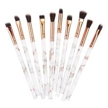 Marble Eye Makeup Brushes Set 10pcs Eyeshadow Eyeliner Eyebrow Brush Tools Kit  Make Up Cosmetic Beauty