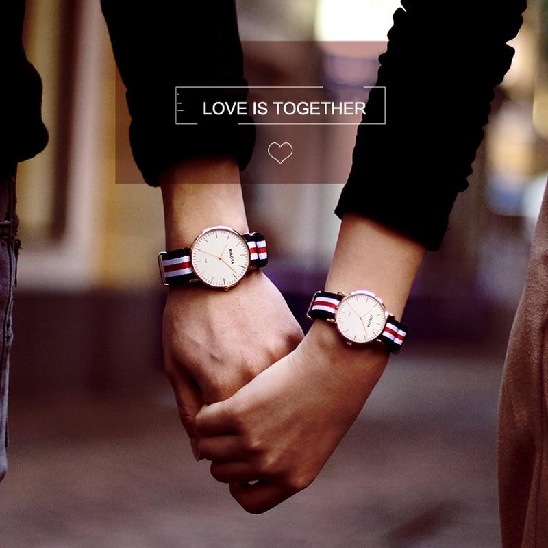 XIAOYA Luxury Brand COUPLE  Quartz Watch Fashion Rose Gold Silver Man Dw Watch Style Men Dress Watch 41mm/34mm Relogio Feminino