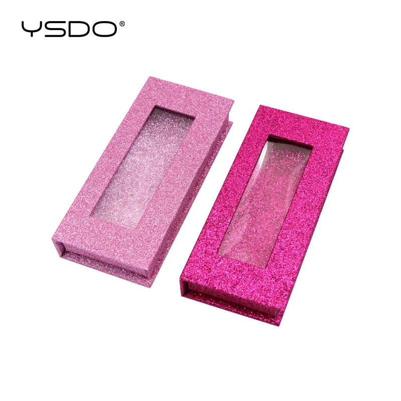 10/20/30 Pieces Eyelash Box Wholesale Glittering Box Mink Eyelashes Case Makeup 3d Mink False Lashes Box Faux Cils Packaging