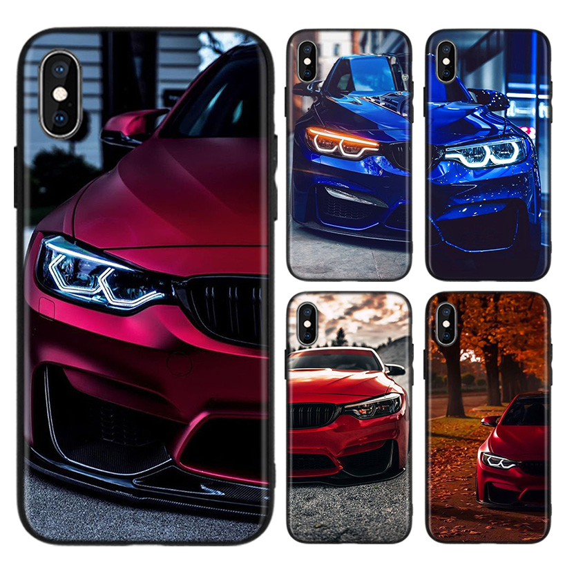 Blue Red <font><b>for</b></font> <font><b>Bmw</b></font> <font><b>Case</b></font> <font><b>for</b></font> Apple <font><b>iphone</b></font> 11 Pro XR XS Max X 7 <font><b>8</b></font> 6 6S Plus 5 5S SE Black Silicone Phone Cover Coque image