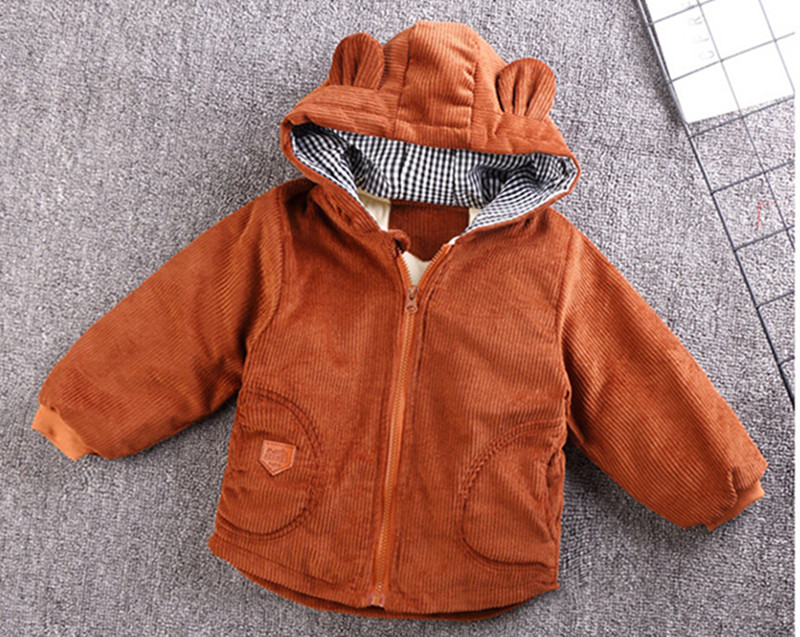 H16e3168dfd8d40c888f9b441397cb6111 - Winter New Baby Boy and Girl Clothes,Children's Warm Jackets,Kids Sports Hooded Outerwear 3 Colors