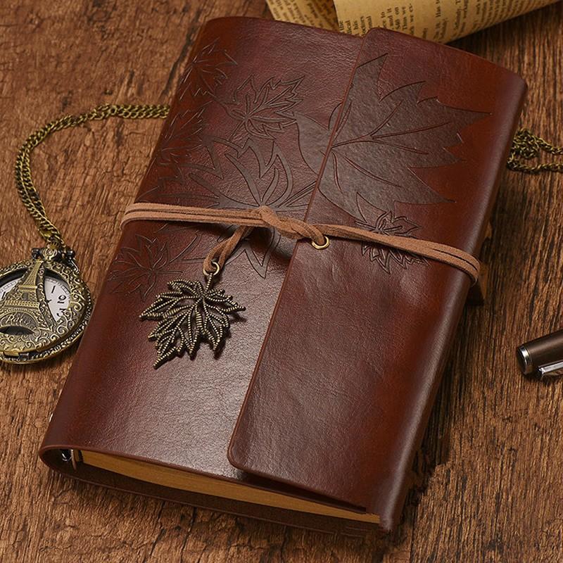 Дорожный винтажный блокнот из искусственной кожи, без рисунка, крафтовый дневник, записная книжка, журнал, скетчбук, канцелярские принадлеж...