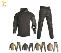 New Military Uniform Shirt + Pants With Knee Elbow Pads Outdoor Airsoft Paintball Tactical Ghillie Suit Camouflage Hunting Cloth