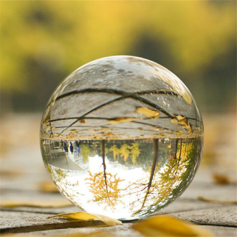 3/5/6/8/10 Crystal Ball Quartz Glass Transparent Ball Spheres Glass Ball Photography Balls Crystal Craft Decor Feng Shui