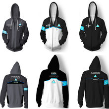게임 디트로이트: 인간이 되십시오 kara hoodies 운동복 cosplay costume connor cosplay uniform men jacket rk800 coat(China)