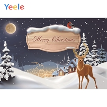 все цены на Yeele Christmas Photocall Chalet Pine Elk Moon Snow Photography Backdrops Personalized Photographic Backgrounds For Photo Studio онлайн