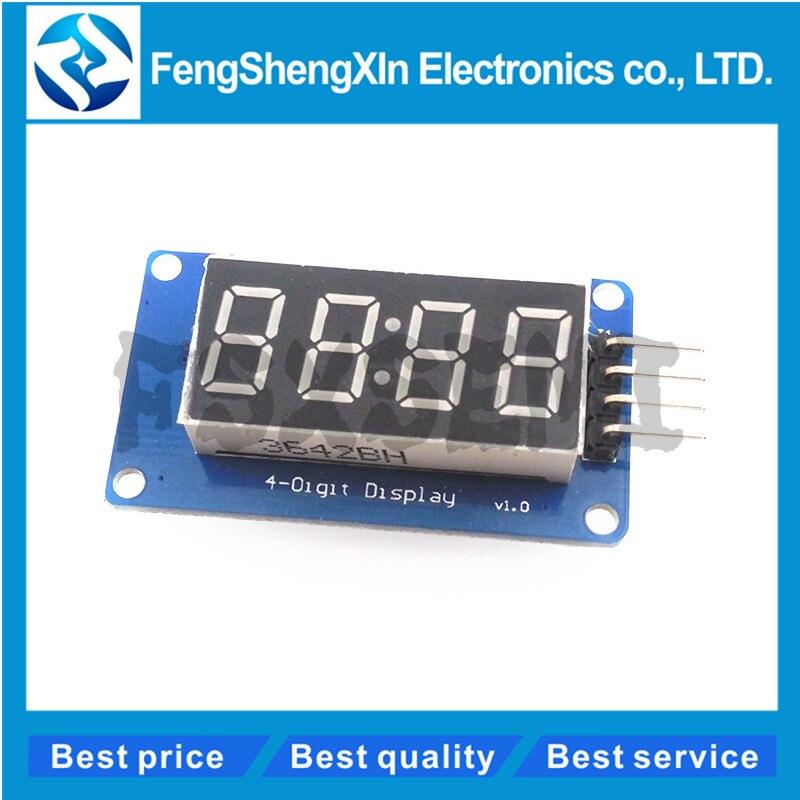 1 шт., 4-битный цифровой светодиодный модуль дисплея для arduino, 7 сегментов, 0,36 дюйма, часы, красная анодная трубка, четыре серии, плата драйвера, ...