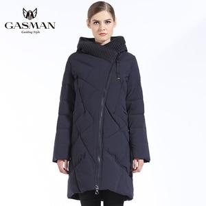 Image 5 - GASMAN 2019 New Winter Collection Fashion Thick Women Winter Bio Down Jackets Hooded Women Parkas Coats Brand Plus Size 6XL 702