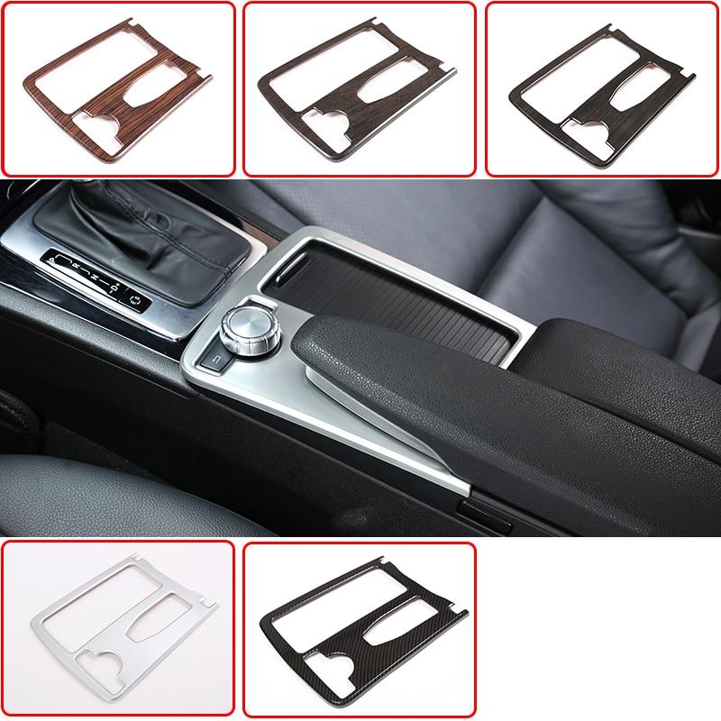 Автомобильная центральная консоль RHD LHD для Mercedes Benz C Class W204 2008-2014, подставка для чашки из АБС-пластика, рамка, отделка E Class Coupe C207 W212 2010-12