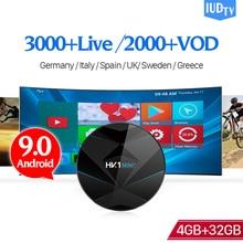 IPTV Spain Germany UK Italia IP TV IUDTV HK1 MINI+ Android 9.0 4G+32G BT Dual-Band WIFI Turkey 1 Year